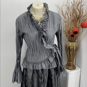 Sunny Leigh Silver blouse size large
